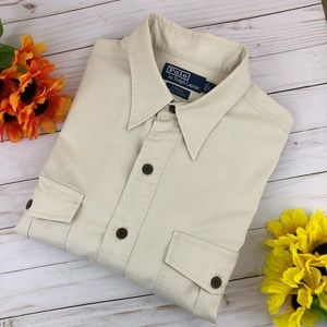 Polo Ralph Lauren Tobias Tan Button Down Shirt